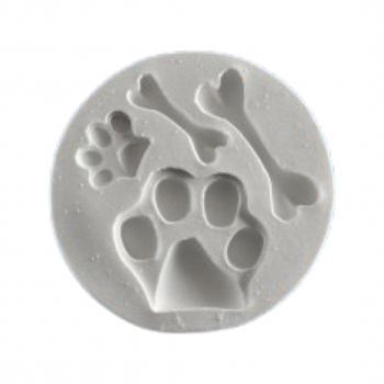 Силиконовый молд набор собачьих лапок и косточек