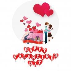 Вафельная картинка A4 День святого Валентина №14