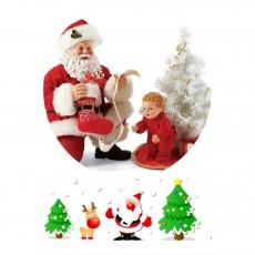 Вафельная картинка A4 Дед Мороз 4
