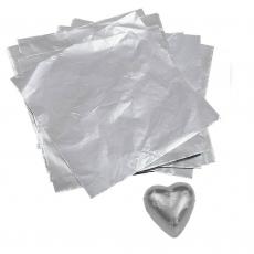 Фольга для конфет 8x8 см Серебро 100 шт