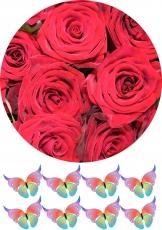 Вафельная картинка A4 Цветы 7