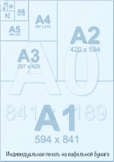 Индивидуальная печать на вафельной бумаге А1 (8 листов А4) со своим дизайном
