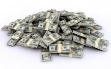 Вафельная картинка A4 Деньги