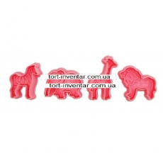 Плунжер слон, лев, зебра, жираф