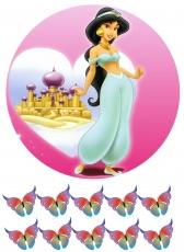Вафельная картинка A4 Принцесса