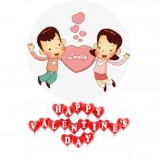 Вафельная картинка A4 День святого Валентина №3