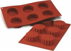 Силиконовая форма для десертов Маргаритки 7х3.5 см