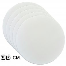 Подложка под торт круглая белая (10 шт ) 36 см