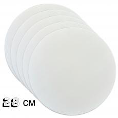 Подложка под торт круглая белая (10 шт ) 28 см
