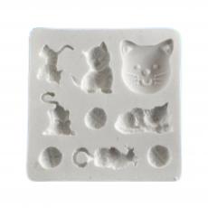 Силиконовый молд набор котов