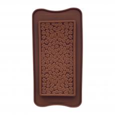 Форма силиконовая для шоколада Плитка с зёрнами кофе