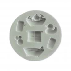Силіконовий молд Набір для ванної 7.5x7.5 см