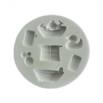 Силиконовый молд Набор для ванной 7.5x7.5 см
