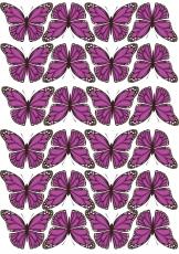 Вафельная картинка A4 Бабочки 22