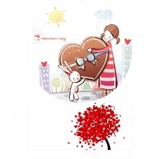 Вафельная картинка A4 День святого Валентина №21