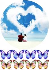 Вафельная картинка A4 Love 7