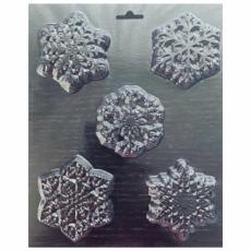 Пластиковая форма для шоколада Снежинки крупные