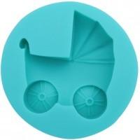 Силиконовый молд коляска