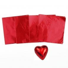 Фольга для конфет 8x8 см Красная 100 шт