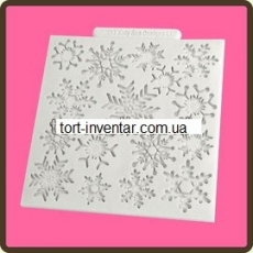 Текстурный мат снежинки Katy Sue