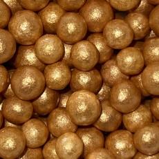 Драже Желтое золото 10 мм 50 гр