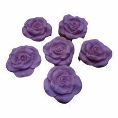 Набор Сахарные Розы розовые 6 шт 3.5 см