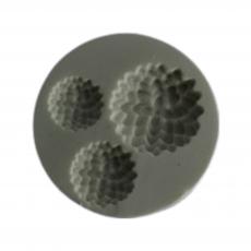 Силиконовый молд Набор цветочков №4 6x6 см