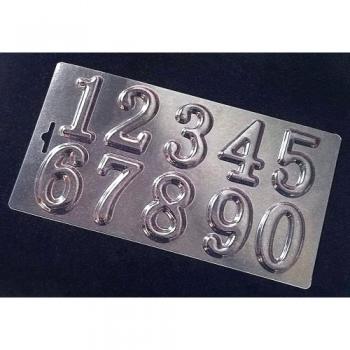 Пластиковая форма для шоколада Cake&Pie Цифры - новые 120х230 мм