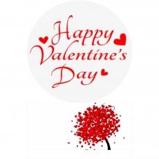 Вафельная картинка A4 День святого Валентина №22