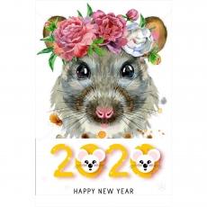 Вафельная картинка A4 Новый Год 2020