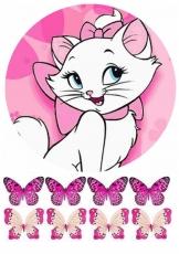 Вафельная картинка A4 Кошка Мари №04