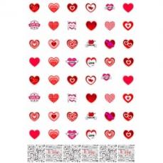 Бумага для меренги Сердечки Любовь