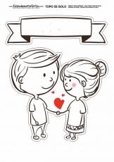 Вафельная картинка A4 Любовь 2021 №21