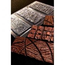 Пластиковая форма для шоколада Cake&Pie Три плитки дерево 180х345 мм