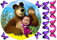 Сахарная картинка A4 Маша и Медведь 3