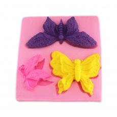 Силиконовый молд 3 бабочки
