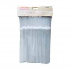 Пластиковые трубочки белые 100 шт