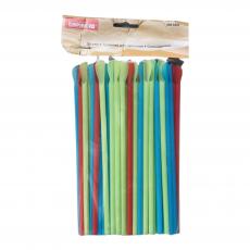Пластиковые трубочки разноцветные без изгиба 100 шт