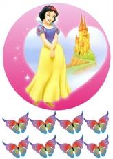 Вафельная картинка A4 Принцесса 3