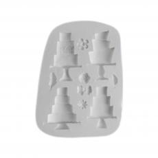 Силиконовый молд Набор Свадебных Тортов 8.5x11.5 см