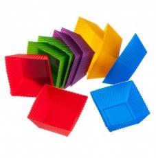 Форма силиконовая Кекс порционный квадратный 10 шт