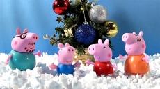 Вафельная картинка A4 Новый Год со Свинкой Пеппа