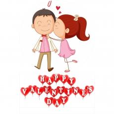 Вафельная картинка A4 День святого Валентина №6