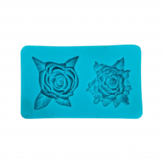 Силиконовый молд Две розы 8.5х5 см