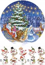 Вафельная картинка A4 Новый год, Рождество 2