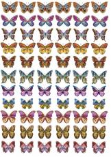 Вафельная картинка A4 Бабочки 17
