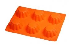 Форма силиконовая малая для выпечки 6 корзинок