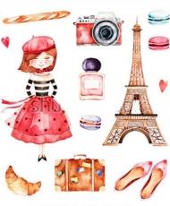 Вафельная картинка A4 Париж 2