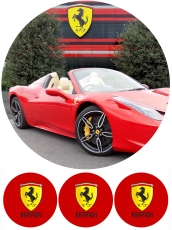 Вафельная картинка A4 Ferrari №1