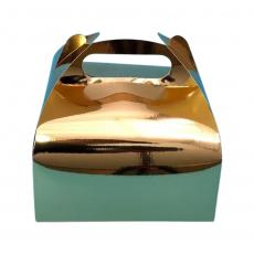 Коробка для десертов золотая 161х161х70